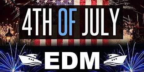 July 4th NYC EDM Sunset Fireworks Show Yacht Cruise Skyport Marina Cabana tickets