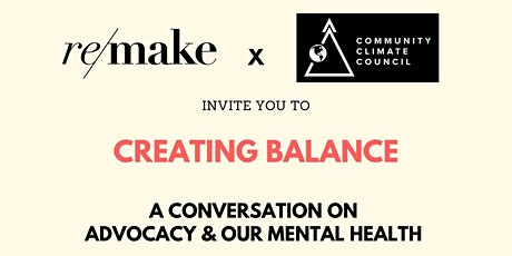Creating Balance | Conversations on Advocacy & Mental Health tickets