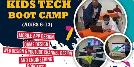 Kids Tech Boot Camp (ages 6-13): Coding, Game Design, Engineering, Robotics tickets
