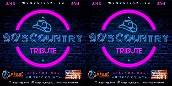 Whiskey County - 90's Country Tribute   STANDING ROOM ONLY REMAINING! image