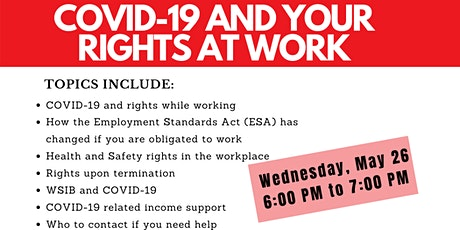 COVID-19 AND YOUR RIGHTS AT WORK tickets