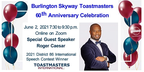 Skyway Toastmasters  60th Anniversary Celebration tickets