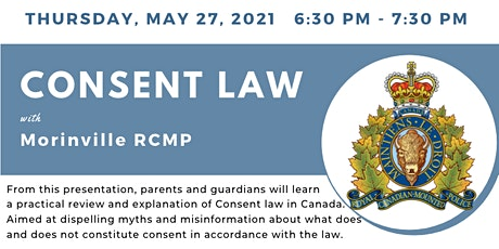 GSACRD Voice Parent Cafe - Consent Law with Morinville RCMP tickets