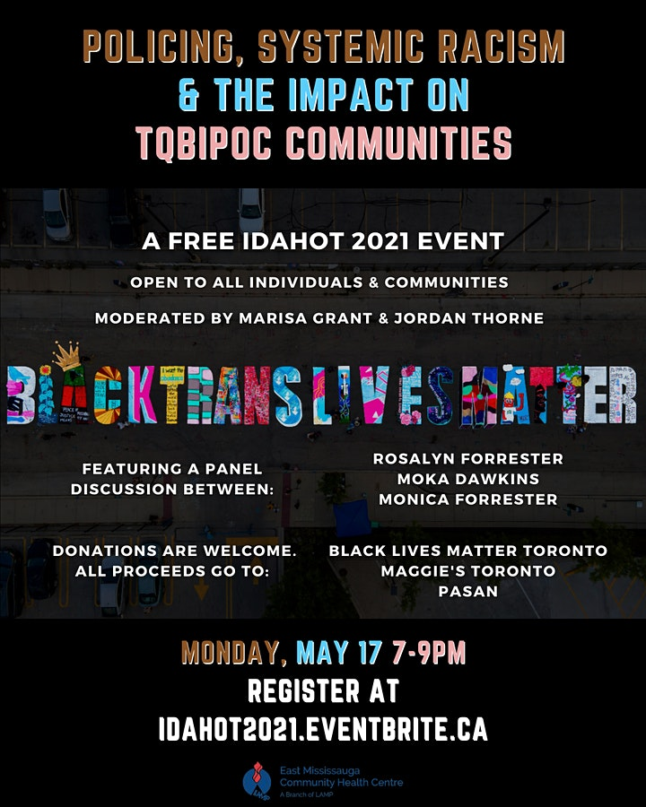 IDAHOT 2021: Policing, Systemic Racism & The Impact On TQBIPOC Communities image