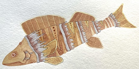 Zentangle® Meets Watercolor - Illustrative Fish tickets