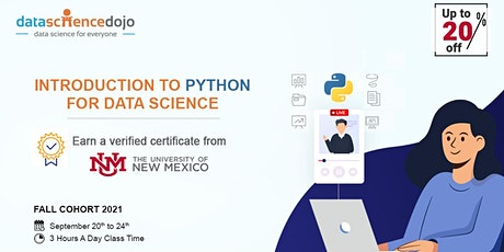 Introduction to Python for Data Science: Fall Cohort tickets