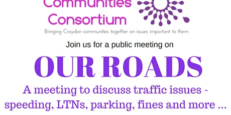 Croydon Community meeting - Our roads tickets