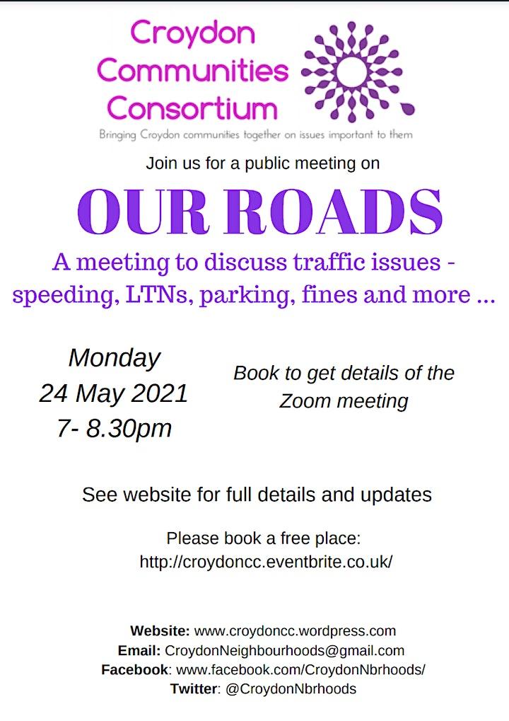 Croydon Community meeting - Our roads image