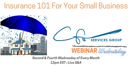Webinar Wednesday-Insurance 101 For Your Small Business tickets