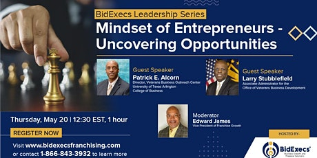 BidExecs Leadership Series: Mindset of Entrepreneurs tickets