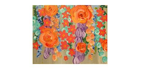 "Mimosa Class: ""Waterfall Flowers"" Saturday June 19th, 11:30AM $25 tickets"