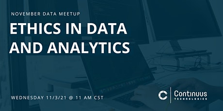 Data Meetup (November) - Ethics in Data and Analytics tickets