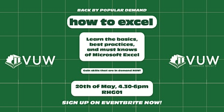 VicCom How to Excel workshop tickets