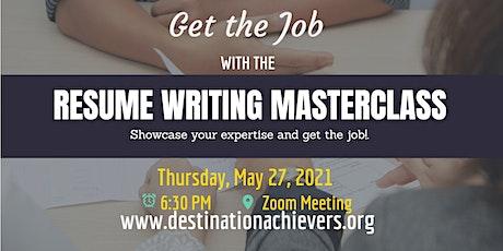 Resume Writing Masterclass tickets