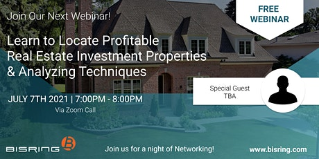 Locate Profitable Real Estate Investment Properties & Analyzing Techniques tickets