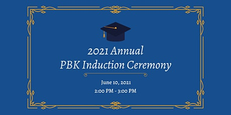 2021 Annual PBK Induction Ceremony tickets
