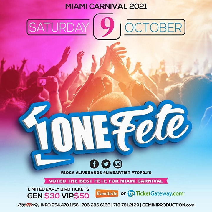 ONE FETE 10-09-2021 image