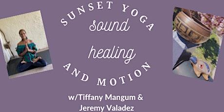 Sunset Yoga: Sound Healing & Motion  *LIVE Class tickets