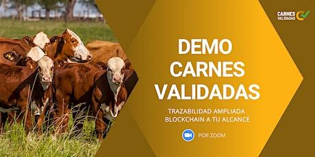 Demo Abierta de Plataforma Carnes Validadas entradas