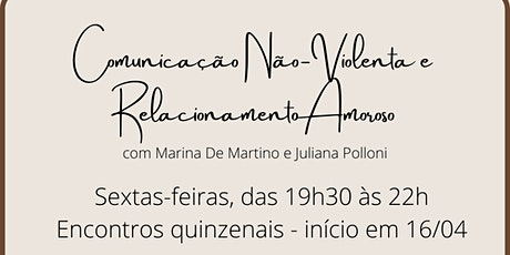Comunicação Não-Violenta e Relacionamento Amoroso  11/06 ingressos
