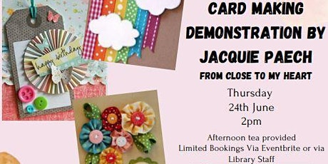 Handmade card making demonstration tickets