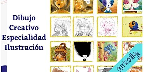 CLASE ONLINE (8-14 años) - EXPLORA DIBUJO CREATIVO: Ilustración y manga entradas