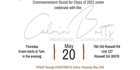 Commencement Social 2021 tickets