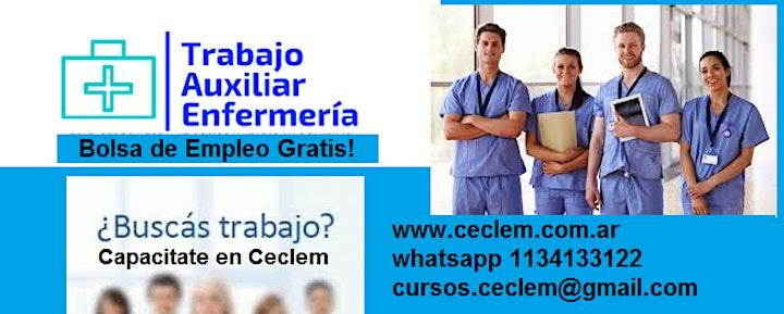 Imagen de Curso AUXILIAR DE ENFERMERIA Beca 50% Oficial