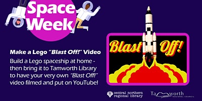 FREE! Film a Lego Blast Off! video at the library – all ages.