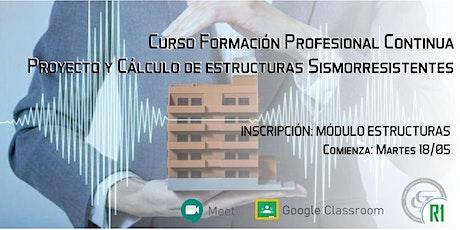 CURSO de FORMACIÓN PROFESIONAL CONTINUA  - ESTRUCTURAS SISMORRESISTENTES entradas