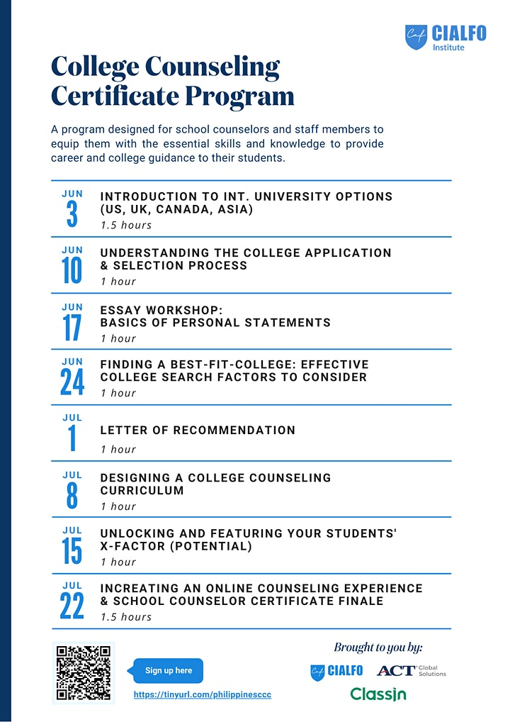 Philippines College Counseling Certificate image