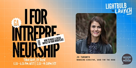 I for Intrepreneurship: How to make a social impact in your workplace tickets