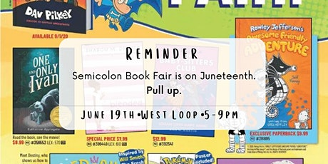 Semicolon Book Fair-The Happiest of Hours! tickets