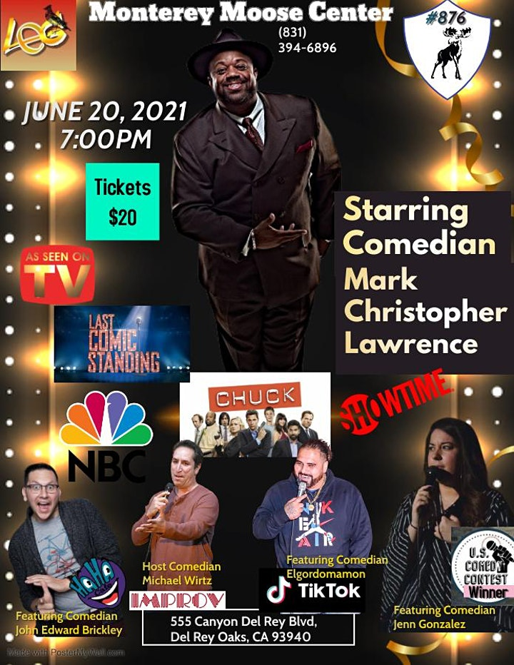 Monterey Stand-up Comedy Night Starring Mark Christopher Lawrence image