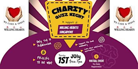 Virtual Pub Quiz - Willing Hearts Singapore Fundraiser tickets