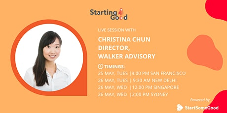 Starting Good Network Entrepreneur Conversations: Christina Chun tickets