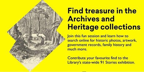 Find treasure in the Archives and Heritage collections tickets