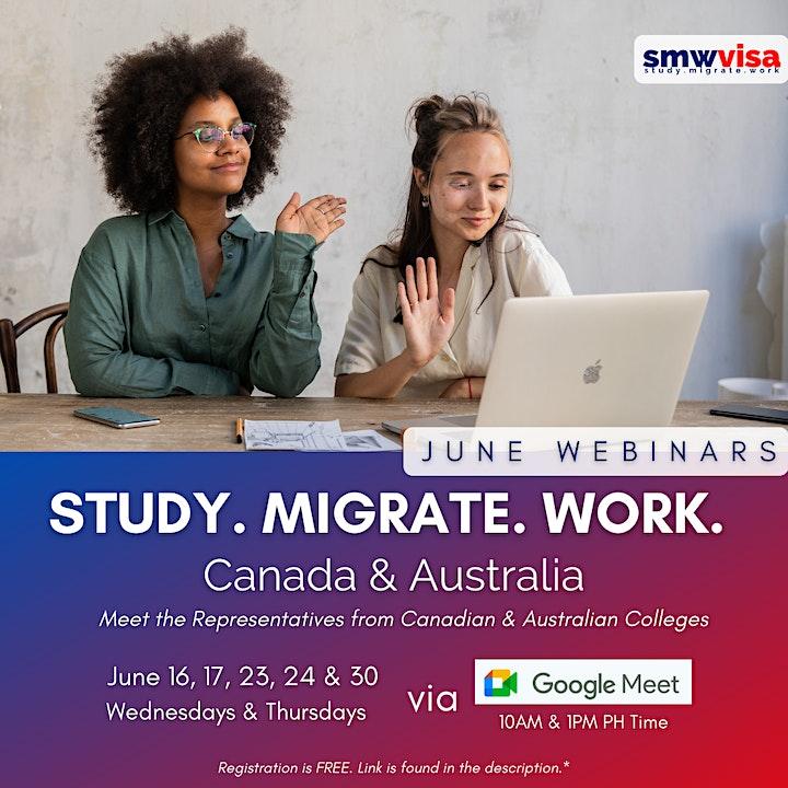 Study Abroad: Canada and Australia (June 2021 webinars) image