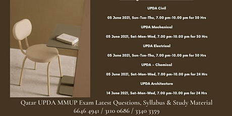 upda qatar exam syllabus electrical tickets