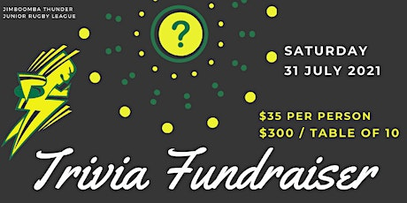 Jimboomba Thunder Fundraising Trivia Night tickets