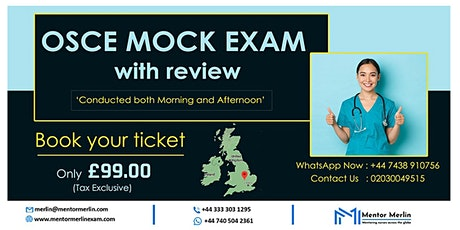 Mentor Merlin - NMC OSCE MOCK EXAM with reviews tickets
