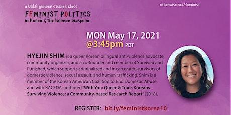 Hyejin Shim - Feminist Politics in Korea conversations series tickets