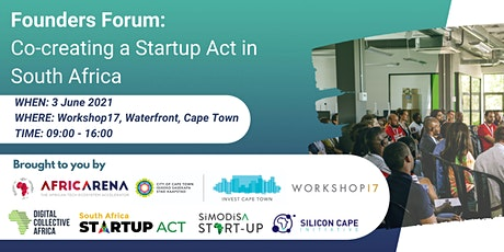 Founders Forum: Co-creating a Startup Act in South Africa tickets