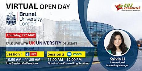Virtual Open Day of Brunel University London biglietti