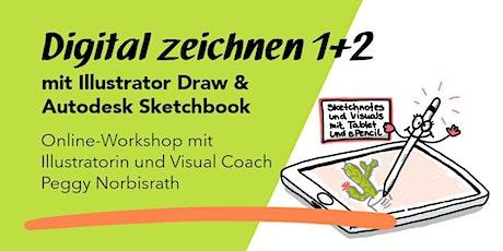 """Online-Workshop 1&2:  """"Digital zeichnen mit Sketchbook und Illustrator"""" Tickets"""