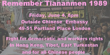 Democracy, freedom & workers' rights for China, Hong Kong, Tibet & Uyghurs tickets