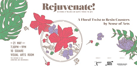 Rejuvenate |  A Floral Twist to Resin Coasters tickets