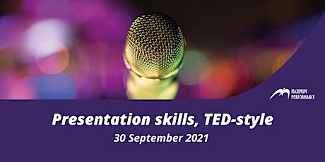 Presentation skills, TED-style (30 September 2021) tickets