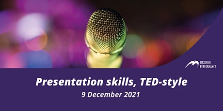 Presentation skills, TED-style (9 December 2021) tickets