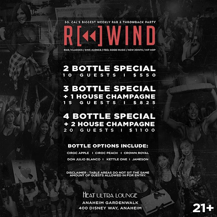 Rewind OC  Fridays Free Guest List image